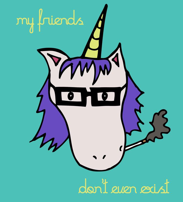 Hipster unicorn comea