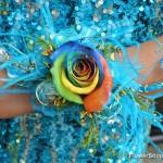 big gay rainbow prom corsage
