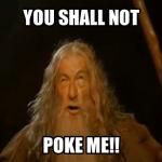 Gandalf poke meme