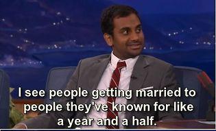 Aziz Ansari on Commitment