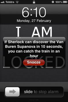 Funny Alarms - Sherlock