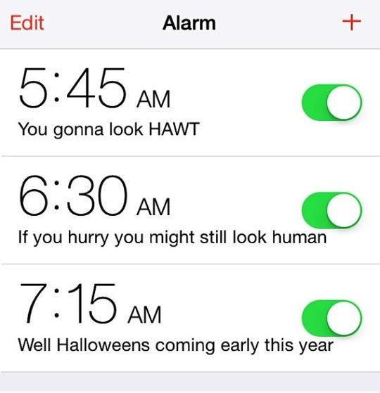 beauty alarm